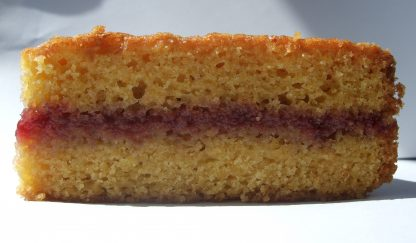 Jam Sandwich Sponge close-up